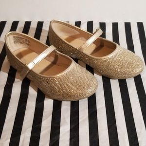 Gold Sparkly Girl's Flats